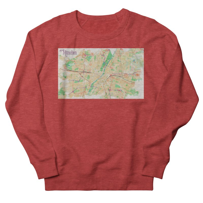 Munich in Watercolor Women's French Terry Sweatshirt by rouages's Artist Shop