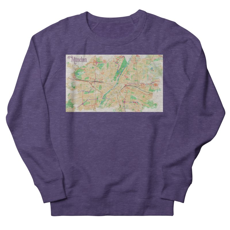 Munich in Watercolor Men's French Terry Sweatshirt by rouages's Artist Shop