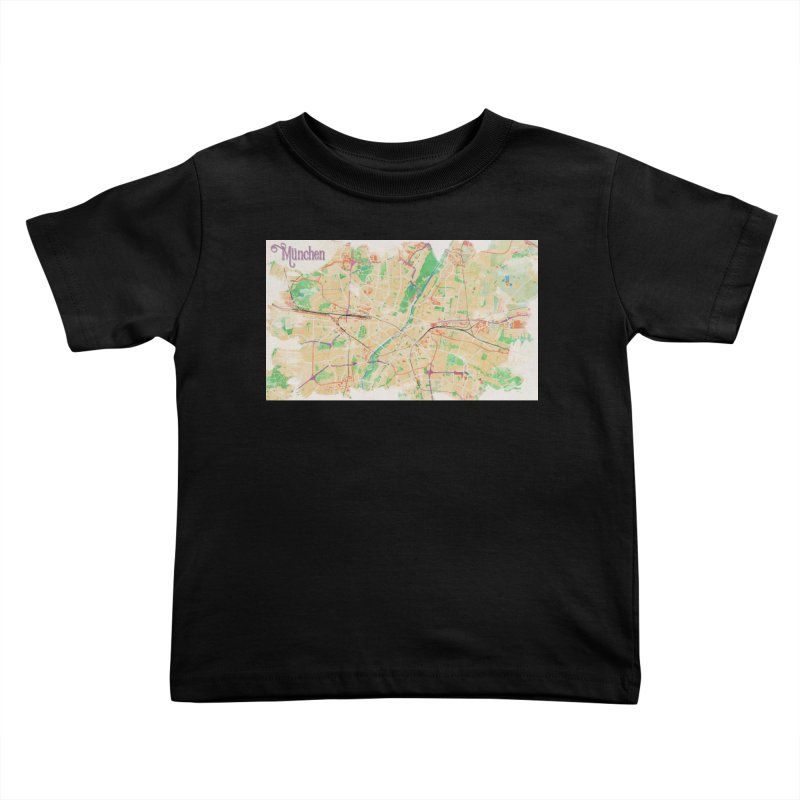 Munich in Watercolor Kids Toddler T-Shirt by rouages's Artist Shop