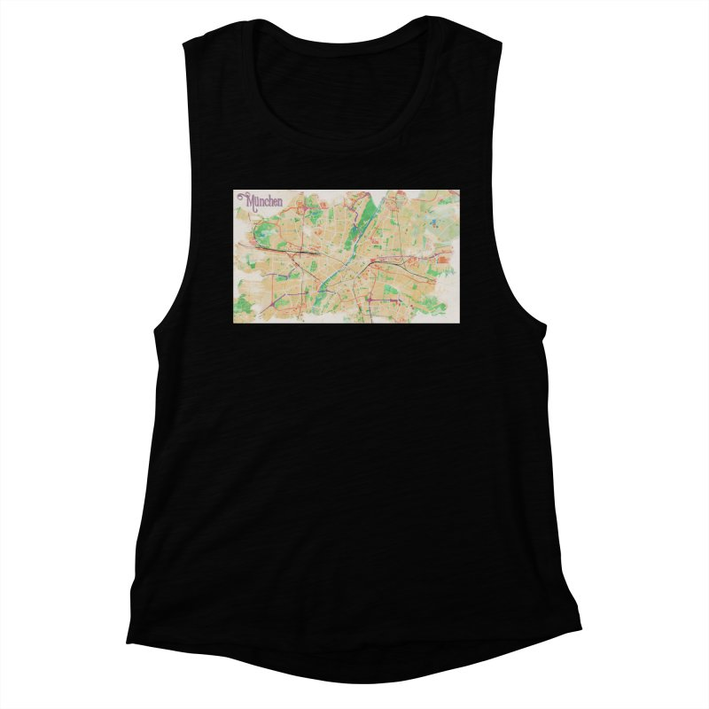 Munich in Watercolor Women's Muscle Tank by rouages's Artist Shop