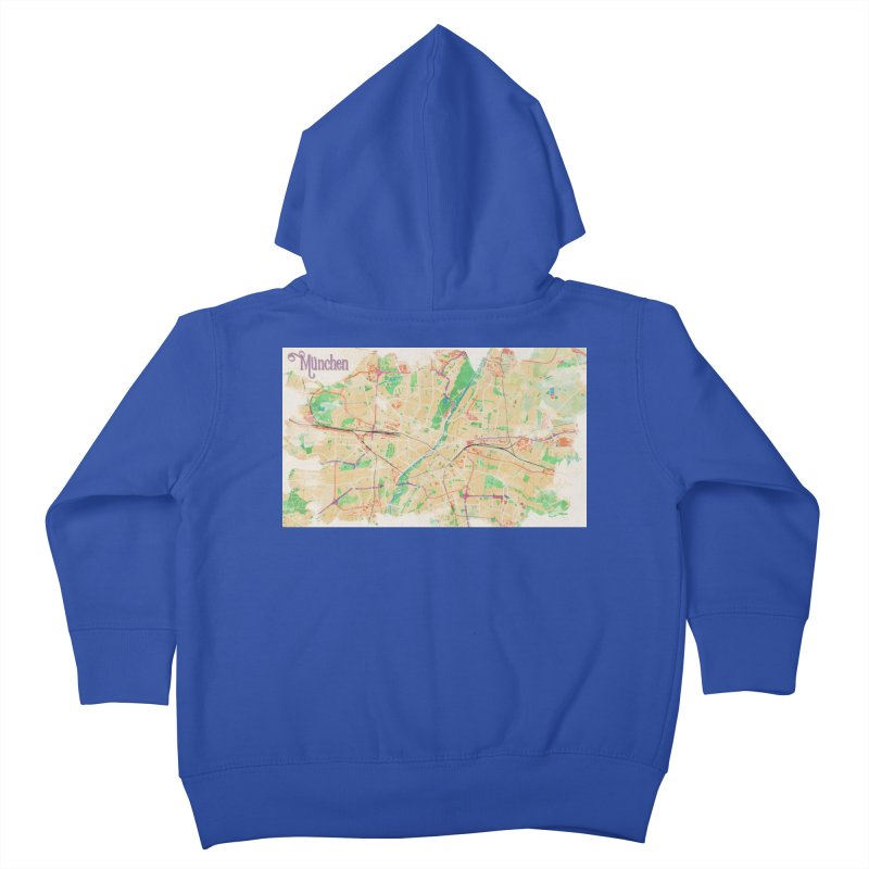 Munich in Watercolor Kids Toddler Zip-Up Hoody by rouages's Artist Shop