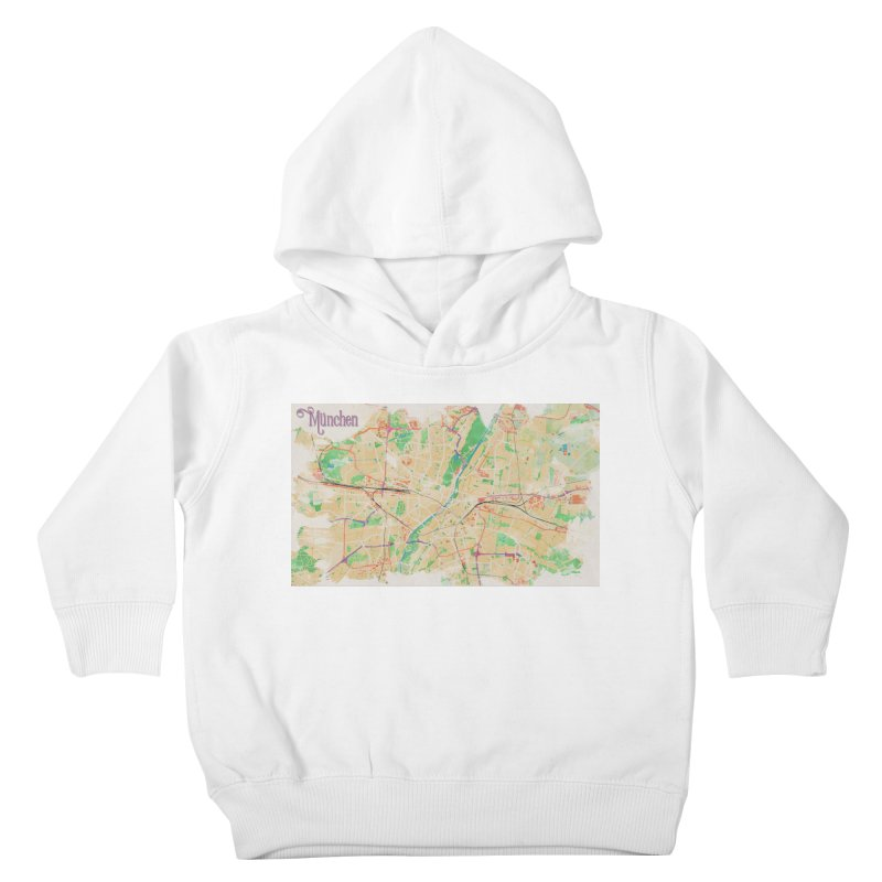 Munich in Watercolor Kids Toddler Pullover Hoody by rouages's Artist Shop