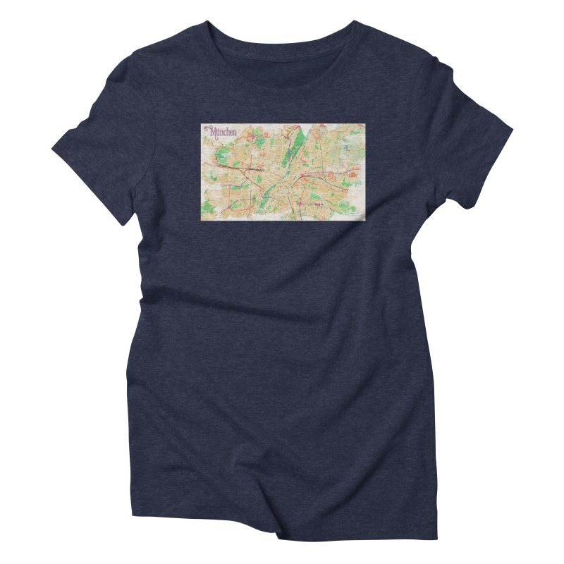 Munich in Watercolor Women's Triblend T-Shirt by rouages's Artist Shop