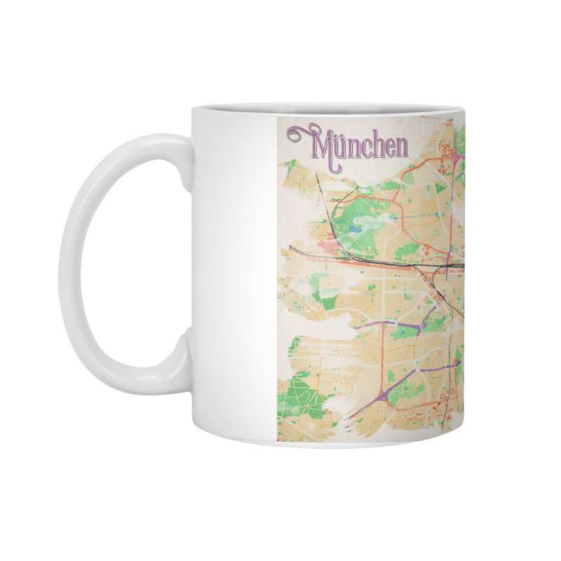 Munich in Watercolor Accessories Standard Mug by rouages's Artist Shop