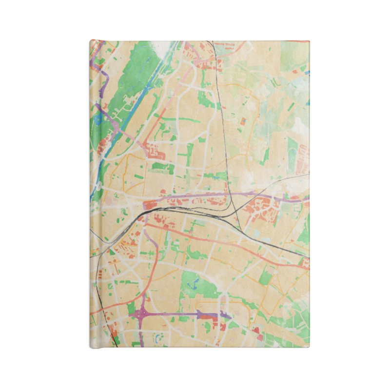 Munich in Watercolor Accessories Lined Journal Notebook by rouages's Artist Shop