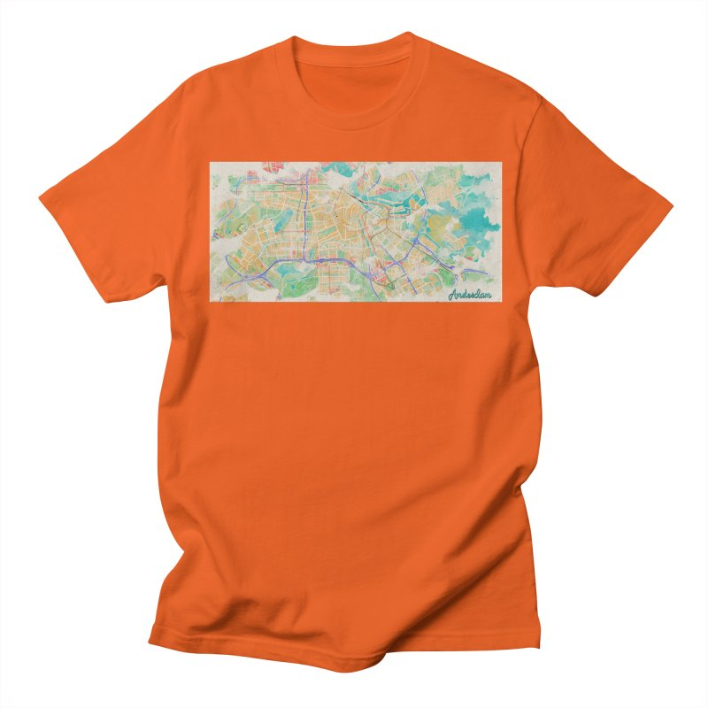 Amsterdam in Watercolor Men's Regular T-Shirt by rouages's Artist Shop