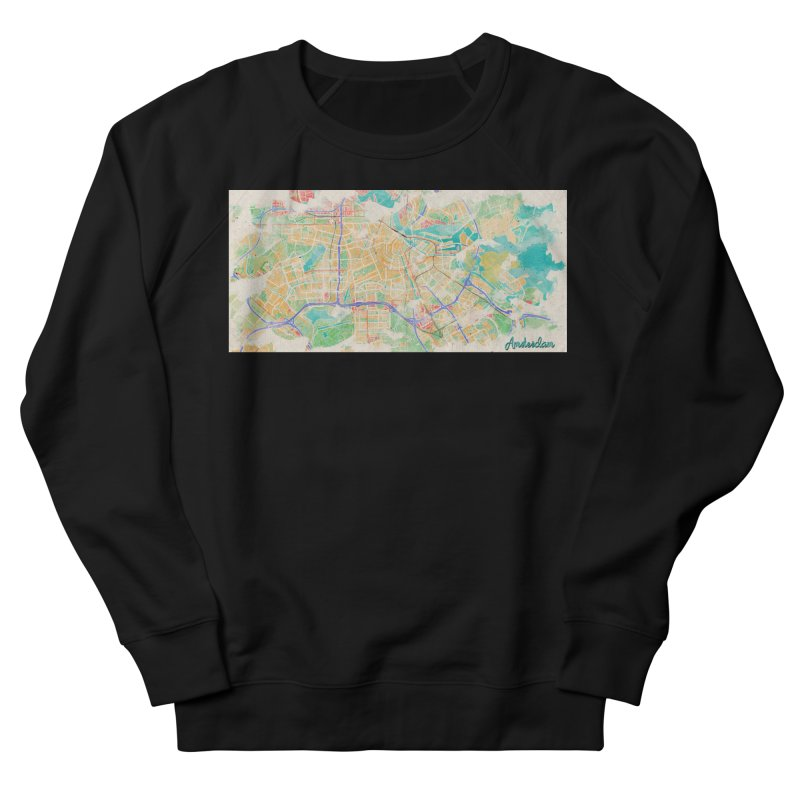 Amsterdam in Watercolor Women's French Terry Sweatshirt by rouages's Artist Shop