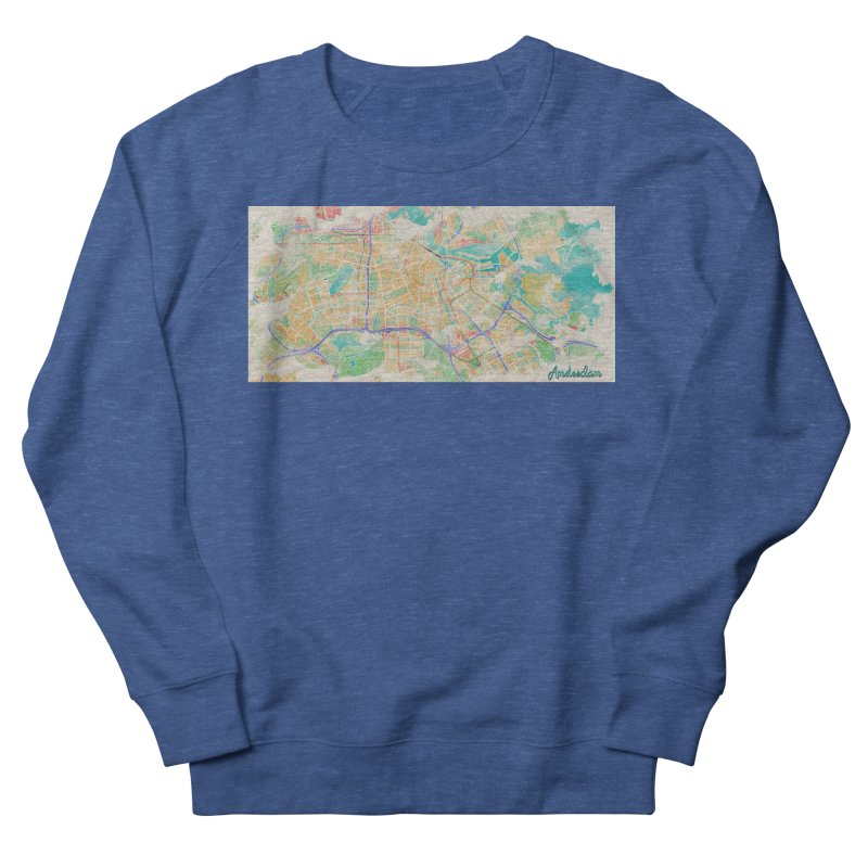 Amsterdam in Watercolor Men's Sweatshirt by rouages's Artist Shop