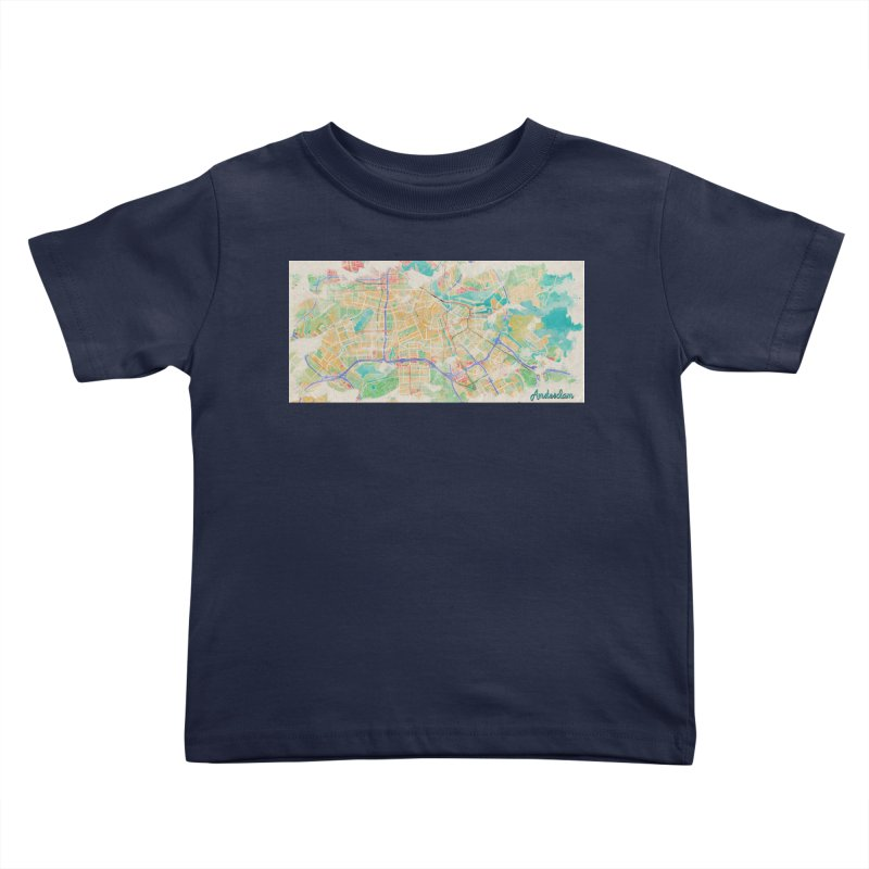 Amsterdam in Watercolor Kids Toddler T-Shirt by rouages's Artist Shop