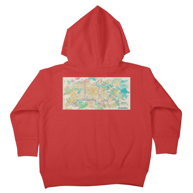 Amsterdam in Watercolor Kids Toddler Zip-Up Hoody by rouages's Artist Shop