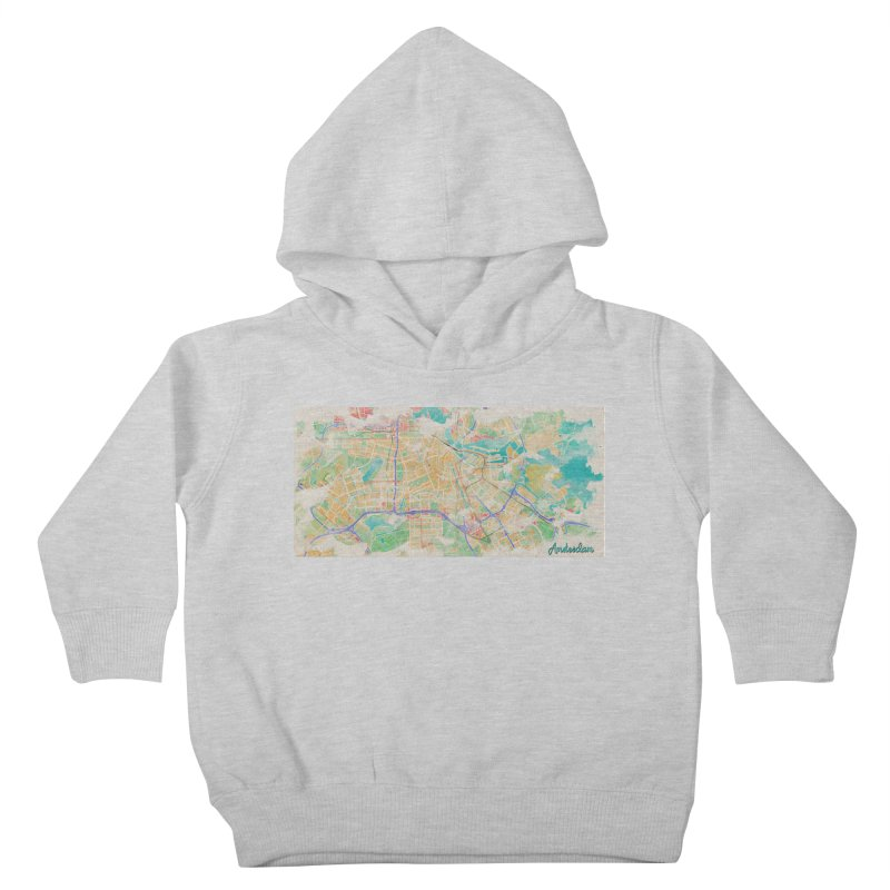 Amsterdam in Watercolor Kids Toddler Pullover Hoody by rouages's Artist Shop