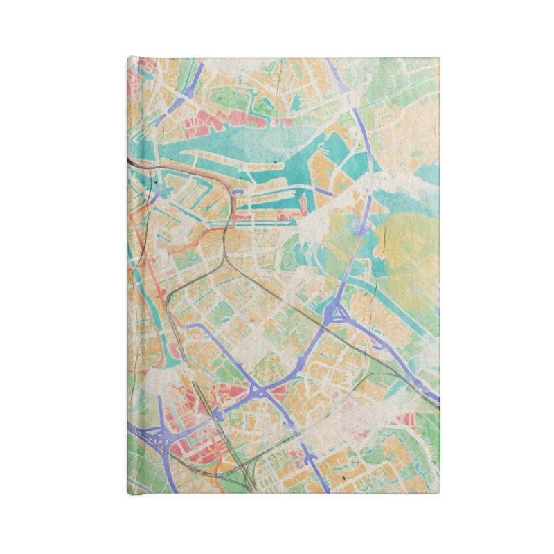 Amsterdam in Watercolor Accessories Lined Journal Notebook by rouages's Artist Shop