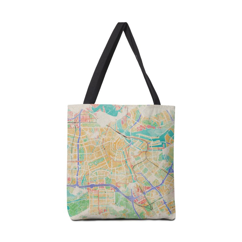 Amsterdam in Watercolor Accessories Tote Bag Bag by rouages's Artist Shop
