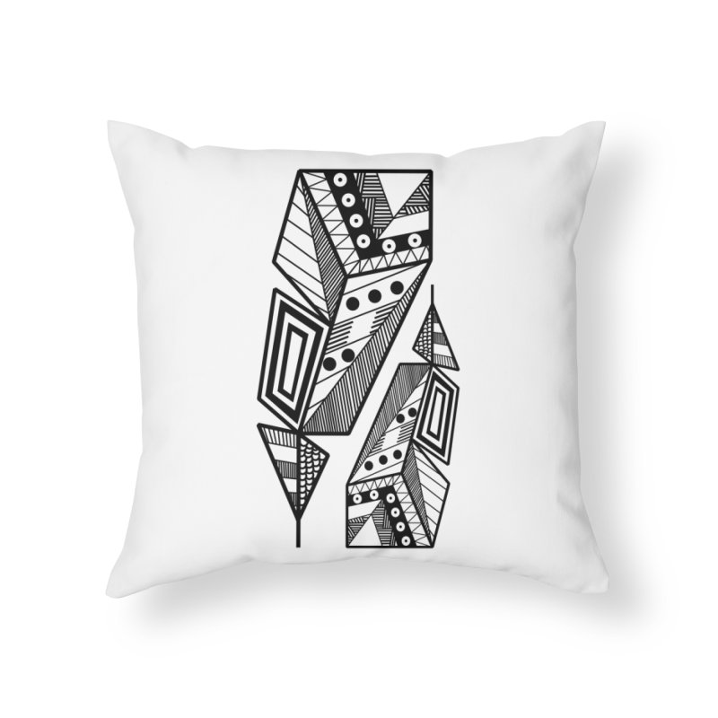 A single Feather Home Throw Pillow by rouages's Artist Shop