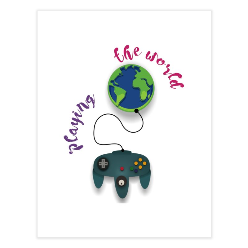 Playing the World Home Fine Art Print by rouages's Artist Shop