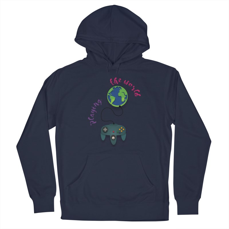 Playing the World Men's Pullover Hoody by rouages's Artist Shop