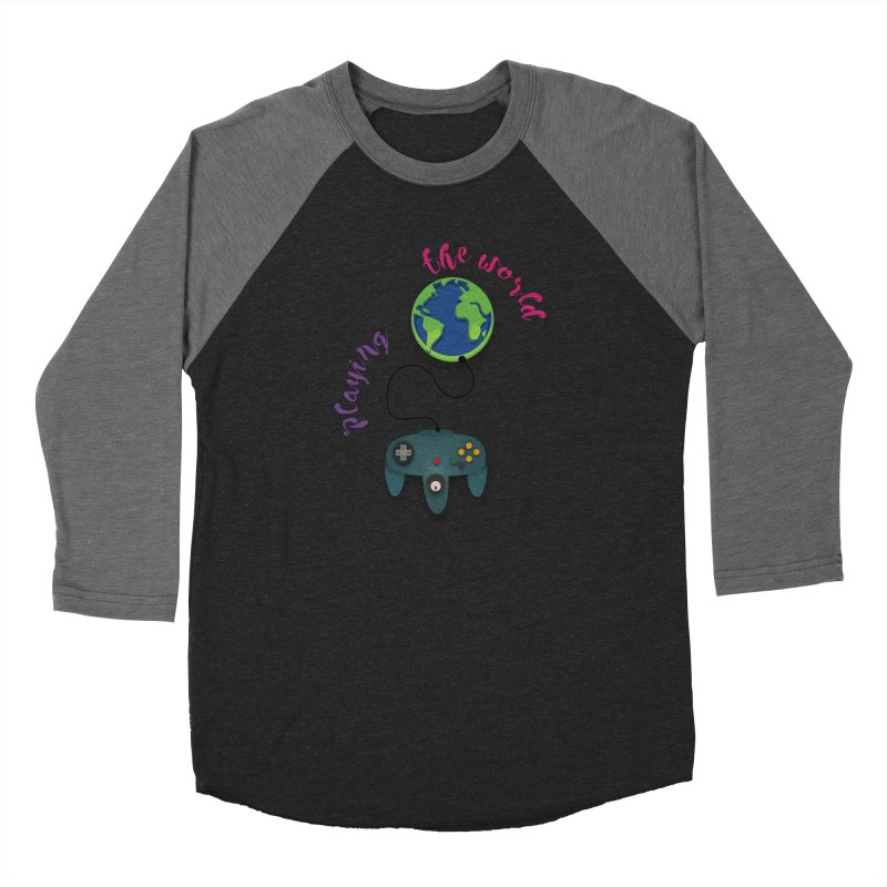 Playing the World Men's Baseball Triblend Longsleeve T-Shirt by rouages's Artist Shop