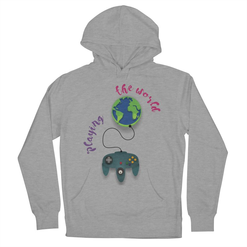 Playing the World Men's French Terry Pullover Hoody by rouages's Artist Shop