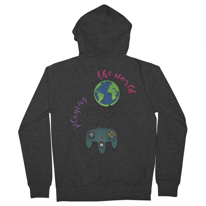 Playing the World Women's French Terry Zip-Up Hoody by rouages's Artist Shop