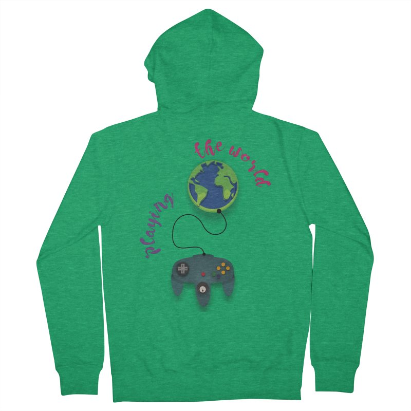 Playing the World Men's Zip-Up Hoody by rouages's Artist Shop