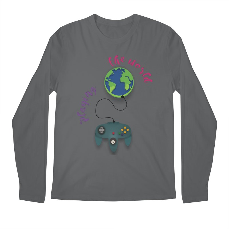 Playing the World Men's Longsleeve T-Shirt by rouages's Artist Shop