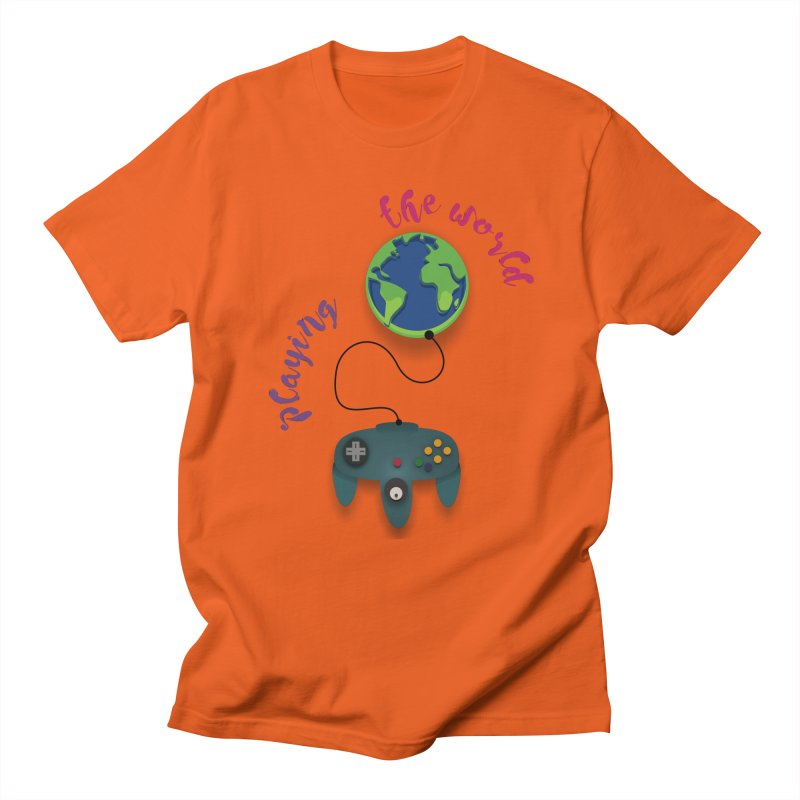 Playing the World Men's T-Shirt by rouages's Artist Shop