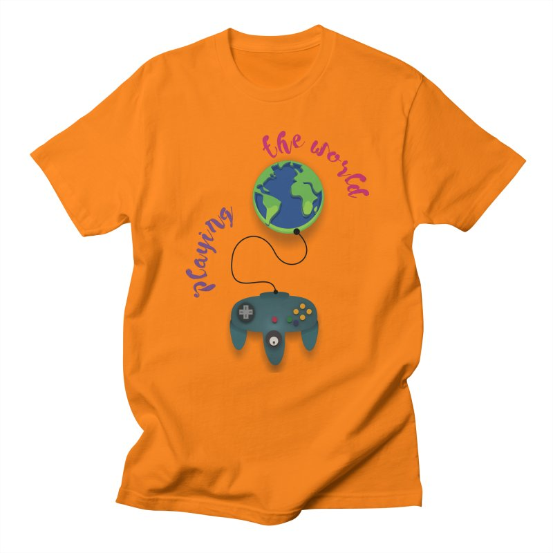 Playing the World Women's Regular Unisex T-Shirt by rouages's Artist Shop