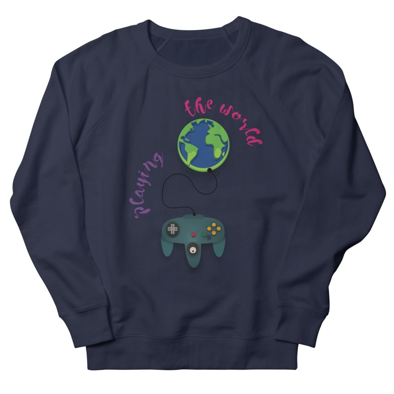 Playing the World Men's French Terry Sweatshirt by rouages's Artist Shop