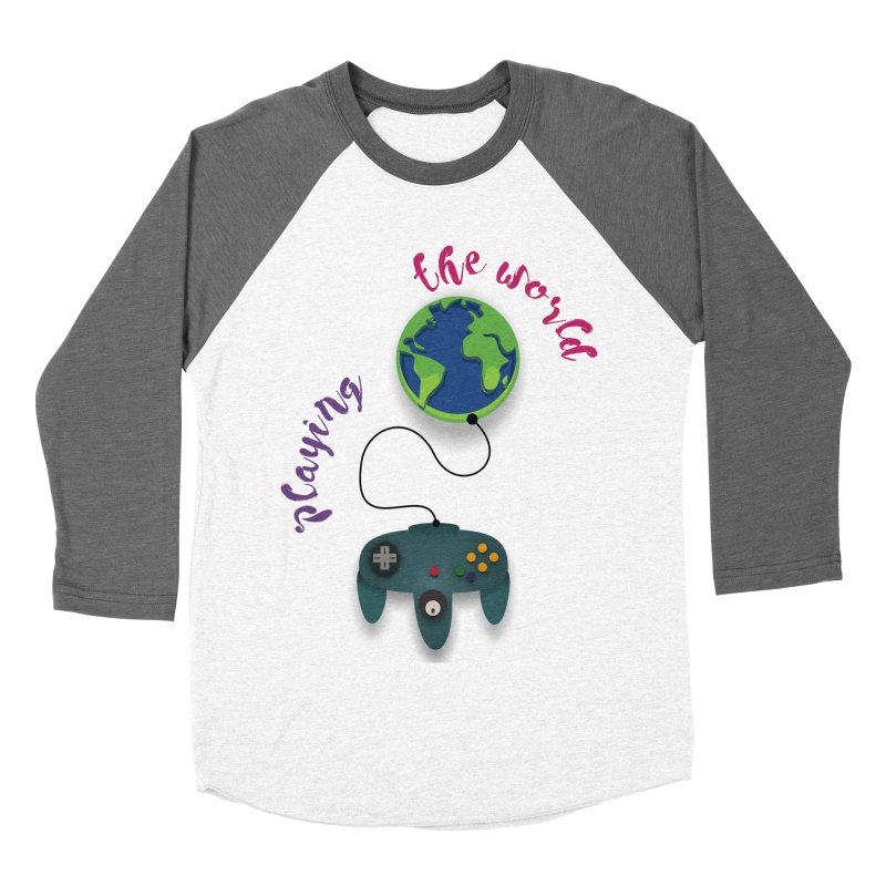 Playing the World Women's Baseball Triblend Longsleeve T-Shirt by rouages's Artist Shop