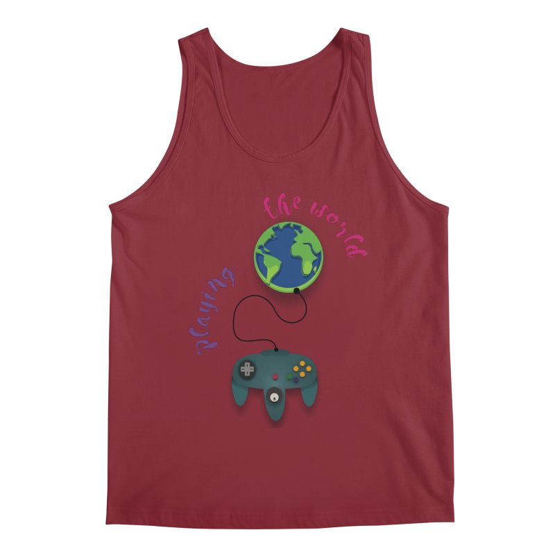 Playing the World Men's Tank by rouages's Artist Shop