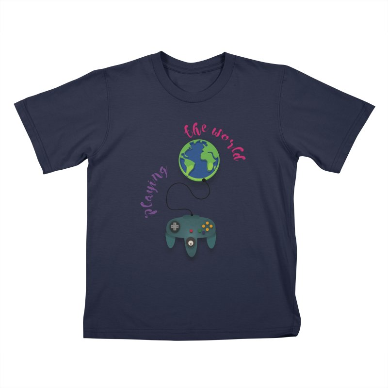 Playing the World Kids T-Shirt by rouages's Artist Shop