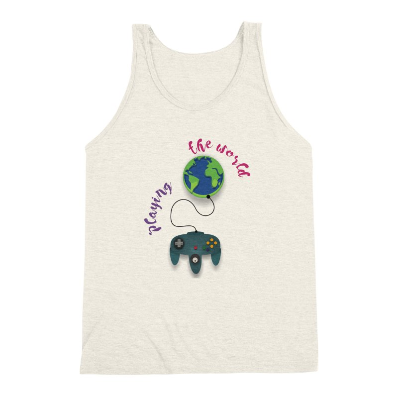 Playing the World Men's Triblend Tank by rouages's Artist Shop