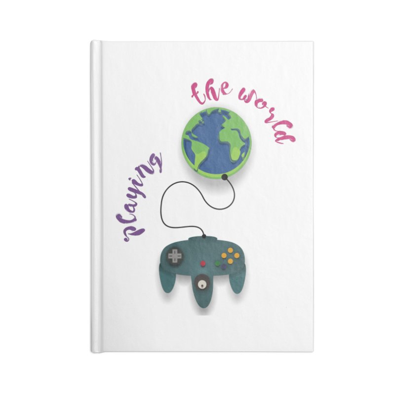 Playing the World Accessories Lined Journal Notebook by rouages's Artist Shop