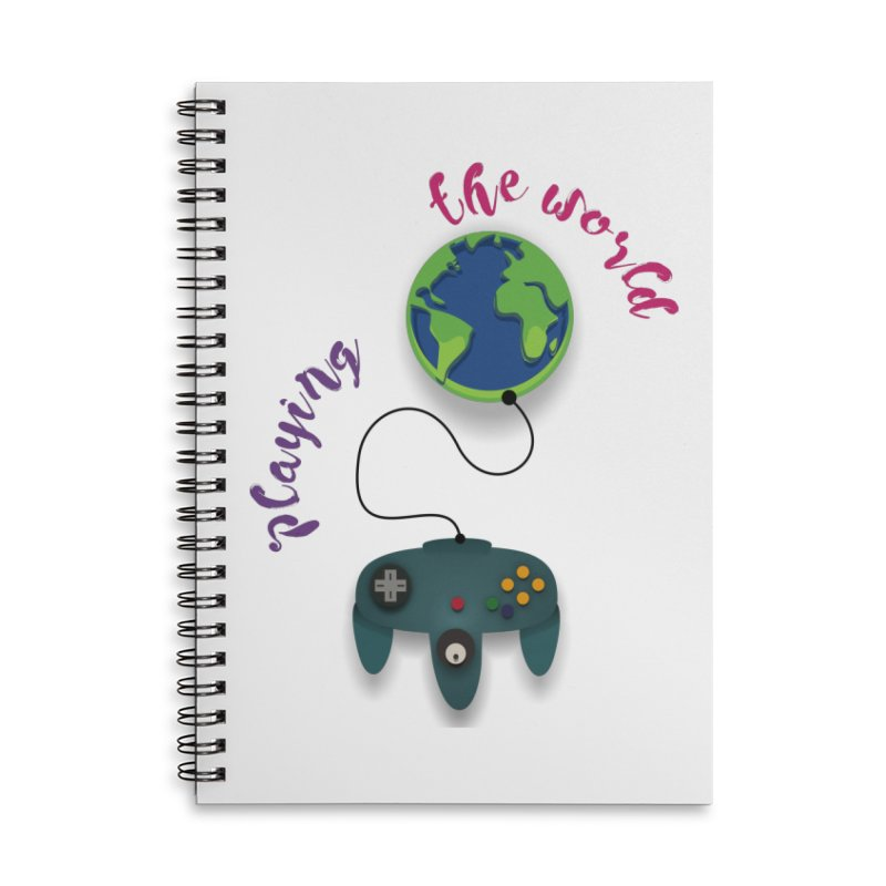 Playing the World Accessories Lined Spiral Notebook by rouages's Artist Shop