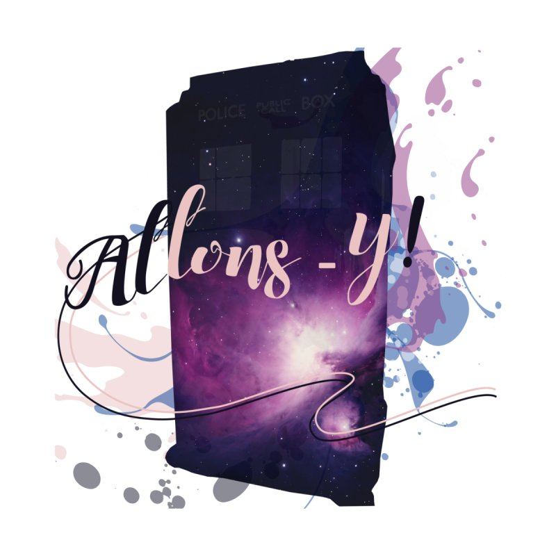 TARDIS' Allons-y! Men's T-Shirt by rouages's Artist Shop