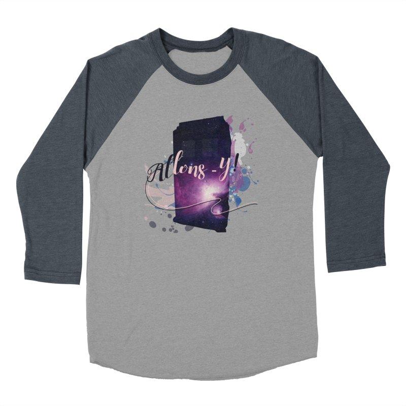 TARDIS' Allons-y! Men's Baseball Triblend Longsleeve T-Shirt by rouages's Artist Shop