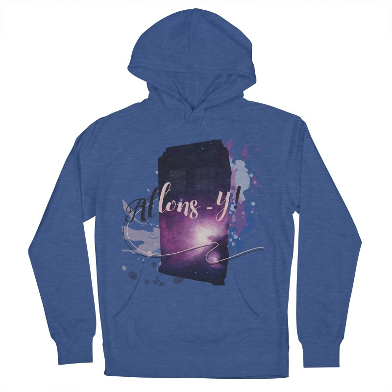 TARDIS' Allons-y! Men's French Terry Pullover Hoody by rouages's Artist Shop