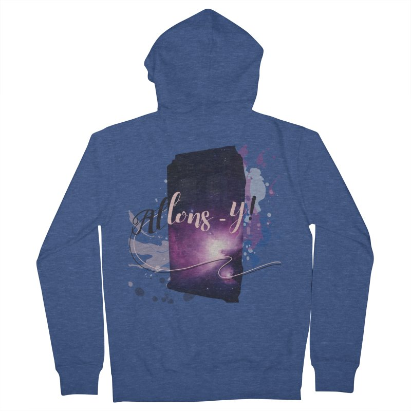 TARDIS' Allons-y! Men's French Terry Zip-Up Hoody by rouages's Artist Shop