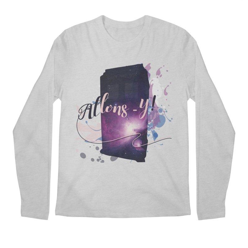 TARDIS' Allons-y! Men's Regular Longsleeve T-Shirt by rouages's Artist Shop
