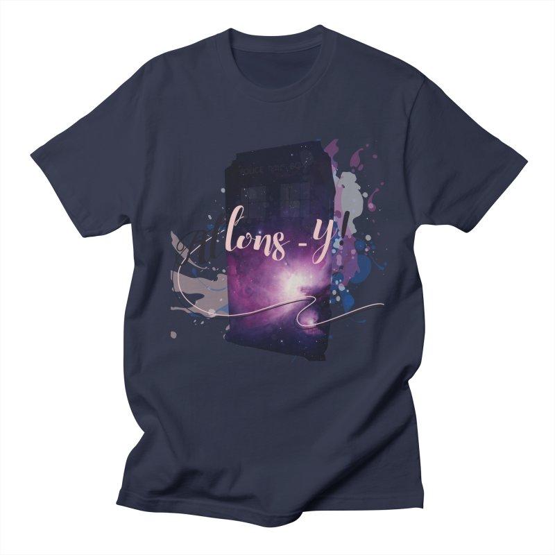 TARDIS' Allons-y! Men's T-Shirt by rouages's Artist Shop
