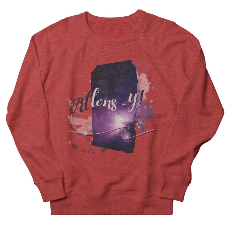 TARDIS' Allons-y! Women's French Terry Sweatshirt by rouages's Artist Shop