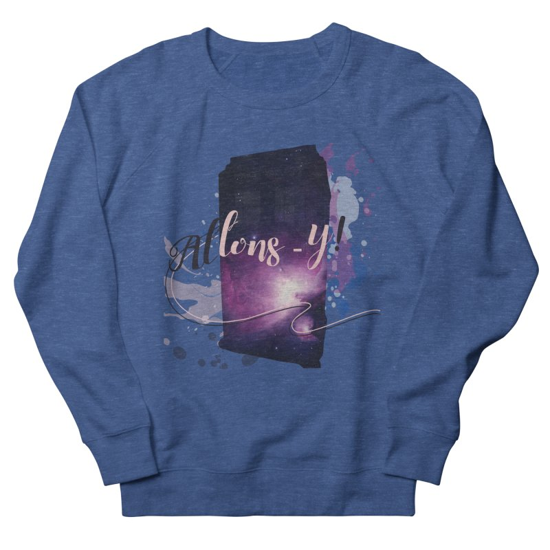 TARDIS' Allons-y! Men's French Terry Sweatshirt by rouages's Artist Shop