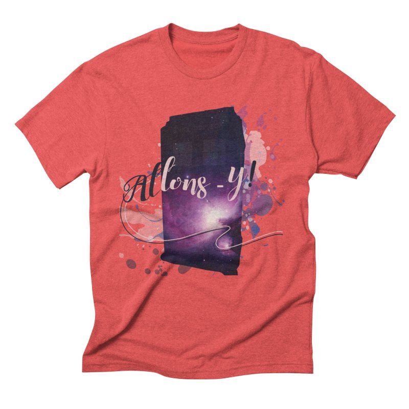 TARDIS' Allons-y! Men's Triblend T-Shirt by rouages's Artist Shop
