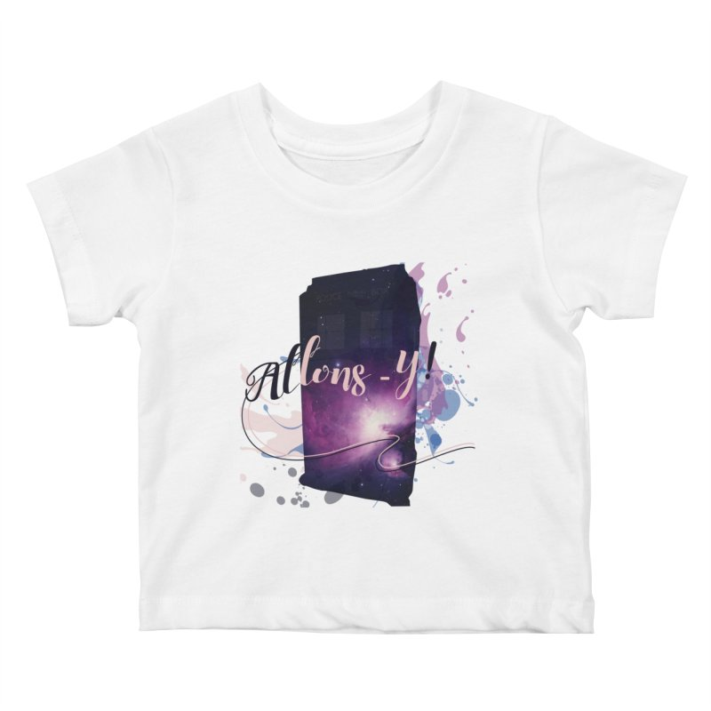 TARDIS' Allons-y! Kids Baby T-Shirt by rouages's Artist Shop