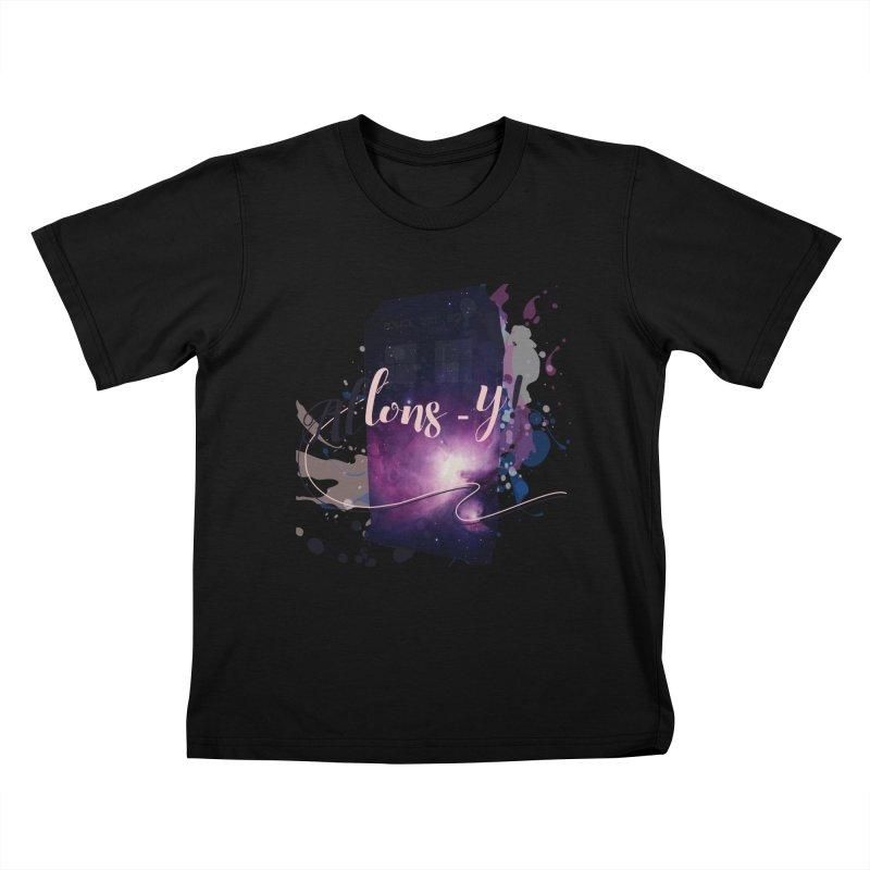 TARDIS' Allons-y! Kids T-Shirt by rouages's Artist Shop