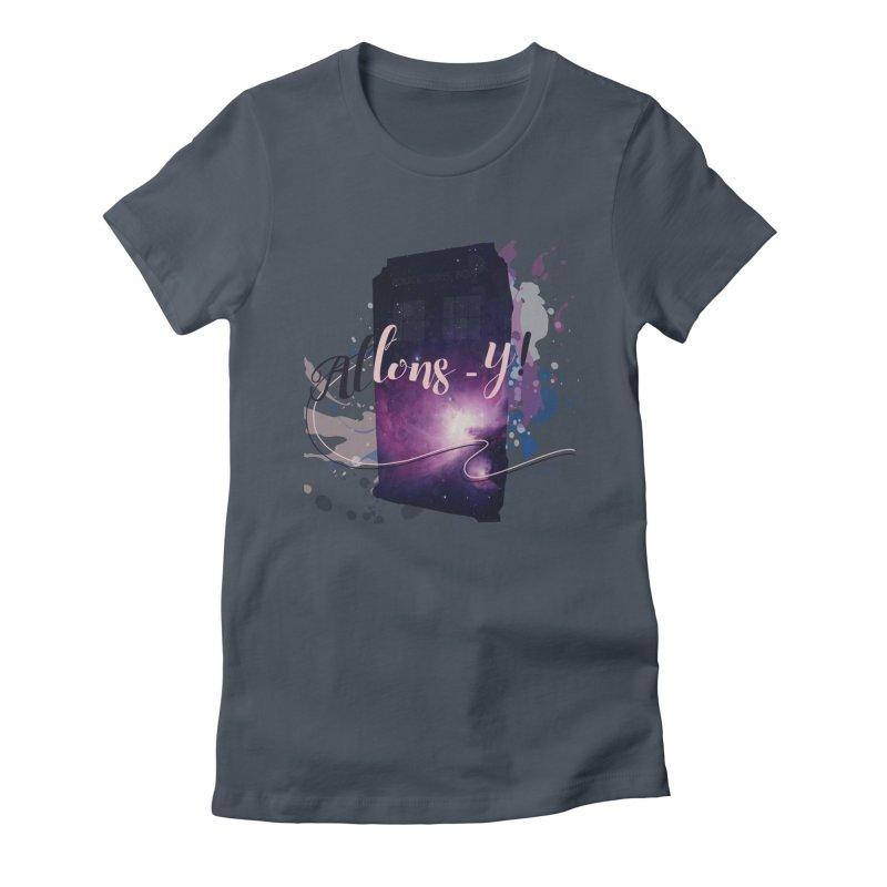 TARDIS' Allons-y! Women's T-Shirt by rouages's Artist Shop