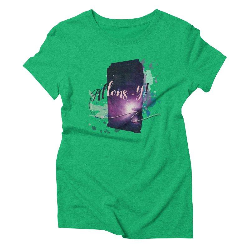 TARDIS' Allons-y! Women's Triblend T-Shirt by rouages's Artist Shop