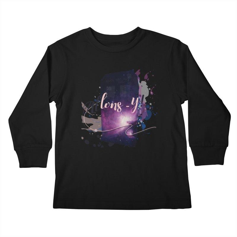 TARDIS' Allons-y! Kids Longsleeve T-Shirt by rouages's Artist Shop