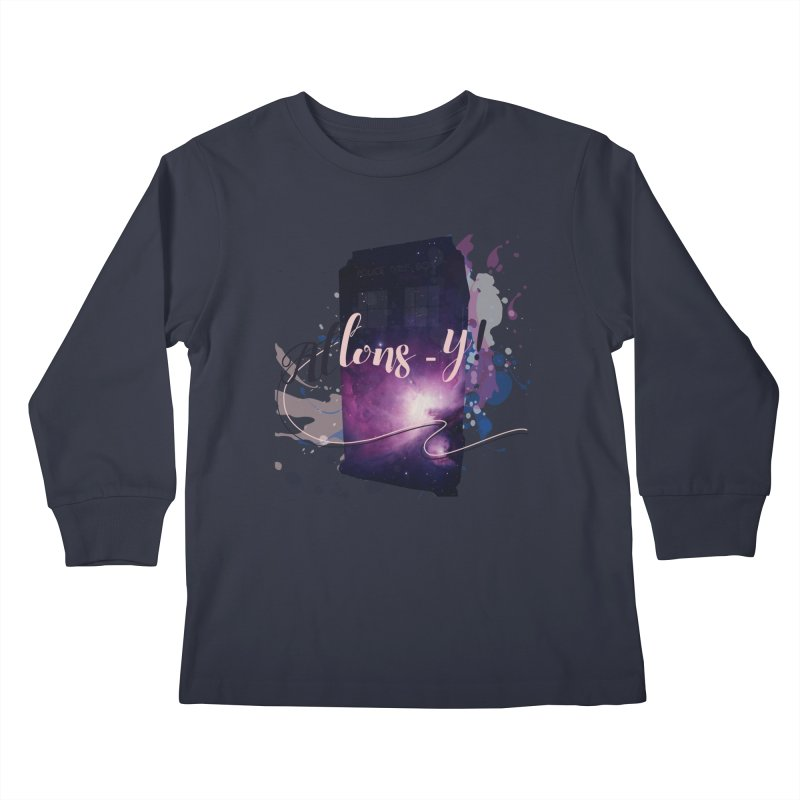 TARDIS' Allons-y! Kids Longsleeve T-Shirt by rouages's Artist Shop
