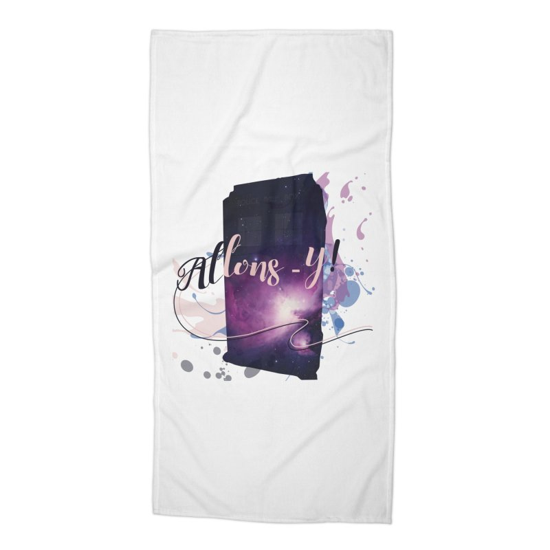 TARDIS' Allons-y! Accessories Beach Towel by rouages's Artist Shop